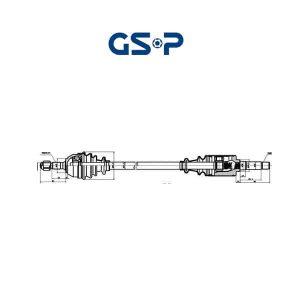 Arbre de transmission 210003 GSP