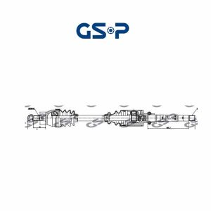 Arbre de transmission 245001 GSP