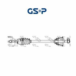 Arbre de transmission 250015 GSP