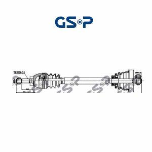 Arbre de transmission 250024 GSP