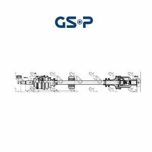 Arbre de transmission 250357 GSP