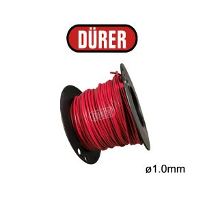 Bobine de câble 1mm² rouge 50M BC10R50 DÜRER